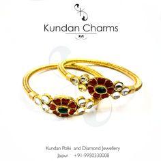 Kundan Polki Enamelled Bangles. #bangles #cuffs #bracelet #bracelets #kundancharms #instagram #jewelry #jewels #fashion #bling #trendy #accessories #love #beautiful #style #instagood #accessory #instajewelry #stylish #cute #jewelrygram #fashionjewelry #instapic #instadaily #instalike #igdaily #igersoftheday  #braceletstacks #trendy