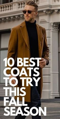 10 Best Ways To Wear Coat This Fall Basic Outfits, Cool Outfits, Mens Fashion Blog, Mens Style Guide, Brown And Grey, Office Furniture, Men's Style, Style Guides, Autumn Fashion