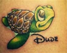 disney tattoos, love this!!!!!!! Need a fun tattoo! A turtle would be perfect :o
