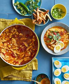 """Filled with spices more common in Indian cooking—cardamom, cloves, turmeric, and garam masala—and topped with crispy naan this soup recipe may just become your new """"classic. Cooking Chicken To Shred, How To Cook Chicken, Turmeric Recipes, Thing 1, Coriander Seeds, Asian, Marinated Chicken, Fresh Lime Juice, Garam Masala"""
