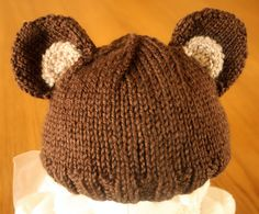 Adorable Bear Baby Beanie.  Your baby will be by MyCharlieBearShop, $20.00