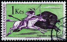 - Archery on Stamps - Stamp Community Forum - Page 5 World Wild Life, Going Postal, Horse Art, Stamp Collecting, Archery, Czech Republic, Postage Stamps, Bunt, Native American
