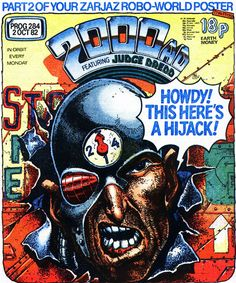 Prog 284 featuring Mean Angel. Saw Halloween, Halloween Movies, Love Over Gold, Charlie Horse, Uk Singles Chart, 2000ad, Judge Dredd, Season Of The Witch, Culture Club