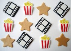 Edible Movie Cupcake Toppers  Fondant Cupcake by CakesAndKids, $18.00