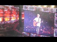 "Clip from unknown new song off Four Rose Bowl Pasadena 9/12/14! i laughed so hard when he was all like in his cute little irish accent ""you dont know that song hahahahaha"" i found it o frikin adorable!"