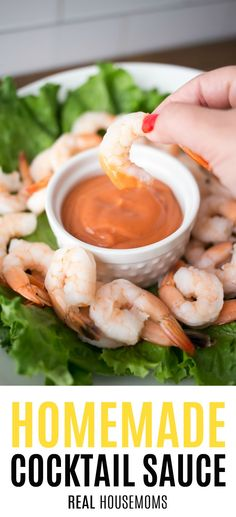 Perfect for shrimp cocktail, whip up some Homemade Cocktail Sauce tailored to your specific taste! So much better than store-bought! Homemade Cocktail Sauce, Homemade Sauce, Cocktail Recipes, Sauce Recipes, Seafood Recipes, Cooking Recipes, Herb Recipes, Dip Recipes, Yummy Appetizers