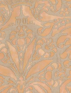 Fortuny Campanelle in apricot monotones & silvery gold