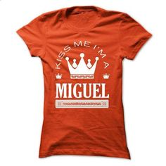 Kiss Me I Am MIGUEL Queen Day 2015 - #cropped hoodie #estampadas sweatshirt. MORE INFO => https://www.sunfrog.com/Names/Kiss-Me-I-Am-MIGUEL-Queen-Day-2015-wufafhqvri-Ladies.html?68278