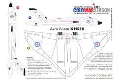 Cut out Paper plane  template - Avro Vulcan XH558