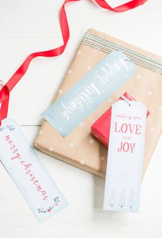 Free Downloadable Printable Christmas Gift Tags   |   Sugar And Charm