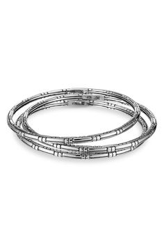 John Hardy Bedeg Sterling Silver Bracelet Set