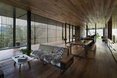 鋸木廠家的客廳和用餐區