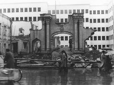 Constrcution of the Ministry of Finance on the ruins of the Qajar Palace, Tehran. Photo by Ali Khadem 1937. (Institute for Iranian Contemporary Historical Studies).