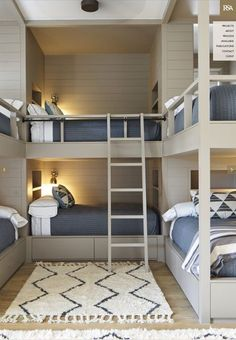 43 Who Is Worried About Lakehouse Decor Lake Cottages Guest Rooms And Why You Should Pay Attention 108 Bunk Bed Rooms, Bunk Beds Built In, Cool Bunk Beds, Bunk Bed Wall, 4 Bunk Beds, Custom Bunk Beds, Modern Bunk Beds, Build In Bunk Beds, Built In Beds For Kids