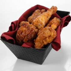 the chew | Michael Symon - Hot Sauce Fried Chicken (could make without hot sauce... chicken fried in bacon drippings)