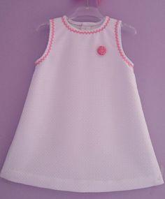 Girl Toddler Dress Vestido Niñas Blanco Vestito por missmariposas