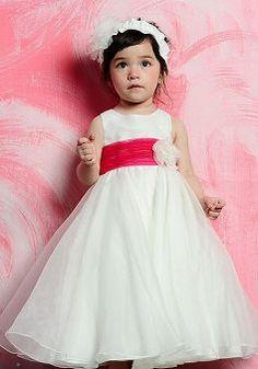 Delicate Satin Ball Gown Empire Floor Length First Communion Dress - 1300255034B - US$80.69 - BellasDress