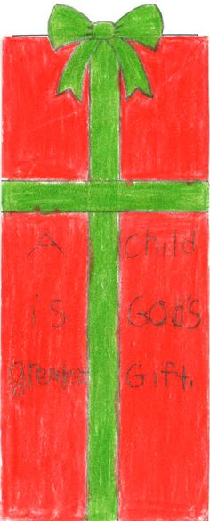"""Bookmark Level II 2ND PLACE WINNER. Respect Life theme """"Each of Us is a Masterpiece of God's Creation!"""" All entries are property of Respect Life Diocese of Rockville Centre Office © 2015"""