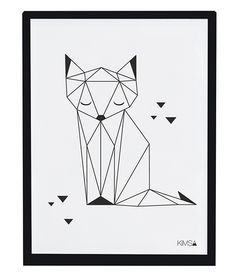 Drawing Portraits - Affiche enfant renard noir et blanc: Discover The Secrets Of Drawing Realistic Pencil Portraits.Let Me Show You How You Too Can Draw Realistic Pencil Portraits With My Truly Step-by-Step Guide. Geometric Fox, Geometric Drawing, Geometric Origami, Geometric Cat Tattoo, Origami Design, Silhouette Portrait, Pencil Portrait, String Art, Line Art