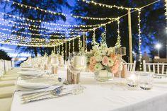 Table settings wedding lights fairy lights dream wedding outdoor wedding receptiong 500334 aloadofball Image collections