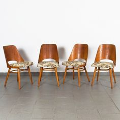 Set of 4 Ton Czechoslovakia dinner chairs, Dinner Chairs, Flat Design, 1960s, Design Inspiration, Dining, Retro, Furniture, Vintage, Home Decor
