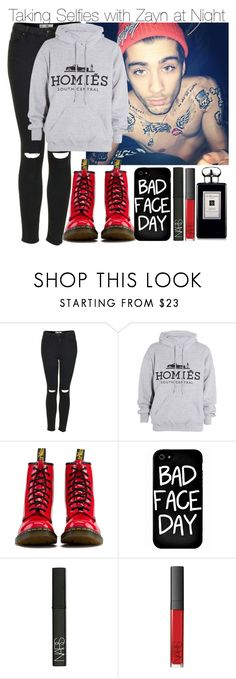 """Taking Selfies with Zayn at Night"" by elise-22 ❤ liked on Polyvore featuring Topshop, Brian Lichtenberg, Dr. Martens, Local Heroes, NARS Cosmetics and Jo Malone"