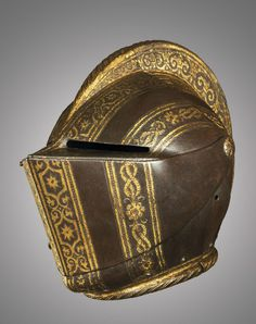 A North Italian close helmet fro the foot tourney, Milan, ca. 1580-90 A.D.