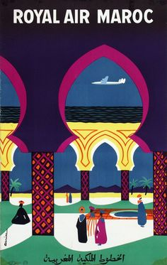 Royal Air Maroc  ca. 1960 Poster by Jacques Auriac