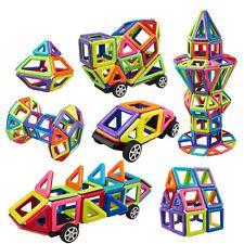 76pcs Matched Magnetic Construction Building Block Enlighten Educationa Puzzles