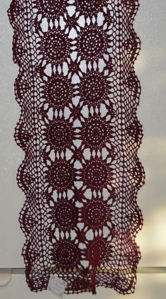 Hand Made Lace Crocheted Runner Table by TillieLuvsTreasures