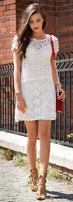 Larisa Costea Floral print Lace #Dress