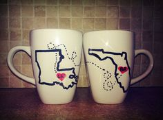 Long Distance Relationship Coffee Mugs ♥ #LDR #Couples #LongDistanceRelationship