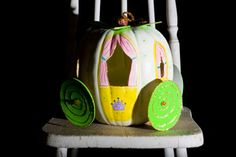 Princess coach pumpkin - centerpiece or party craft? Maybe we can carve, paint, & craft this year.