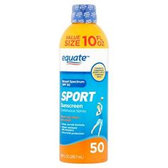 Free 2-day shipping on qualified orders over $35. Buy Equate Sport Continuous Spray Sunscreen, SPF 50, 10 fl oz at Walmart.com