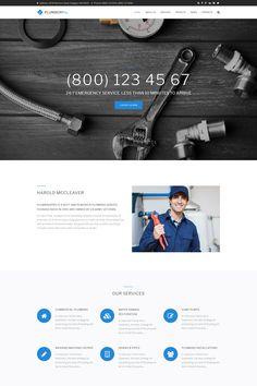 Plumberpro - Plumbing Service Premium Drupal Template Big Screenshot