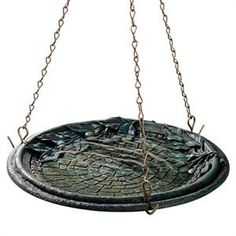 8150-3 Birdscapes Cobblestone Hanging Birdbath: A birdbath. The birds will love to come… #TrapperSupplies #TrapperBooks #TrapperVideos