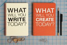 What Will You Create Today : Journal / Notebook / Sketchbook / Dayplanner. $14.00, via Etsy.