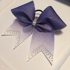 """Filles Handmade White Glitter 4/"""" Cheveux Nœud Pompon"""