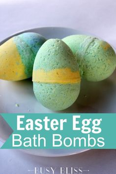 These Easter egg bath bombs for kids are a great non-candy Easter basket addition. Your kids will love watching them fizz around the bath tub.