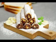 Nutella Banana French Toast Roll-Ups French Toast Roll Ups, Banana French Toast, Breakfast For Kids, Eat Breakfast, Breakfast Recipes, Nutella Recipes, Cookie Recipes, Good Food, Fun Food