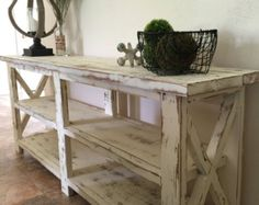 Custom Rustic Farmhouse End Table by TheWoodMarket on Etsy
