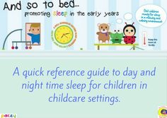 Sleep poster - free to members. Helping promote good sleep in the early years Good Sleep, Eyfs, Childcare, Night Time, Activities, Day, Poster, Free, Movie Posters