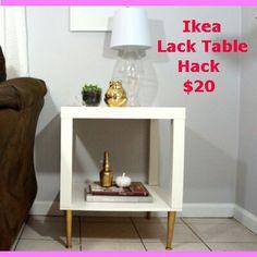 Ikea Lack side table hack. Easy amd just $20. https://youtu.be/t0sIsXhItJo                                                                                                                                                                                 More