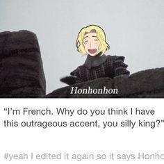 Hetalia x Monty Python - God bless the French.