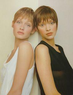 1993 Photographer: Mario Testino Models: Amber Valletta  Patricia Hartmann