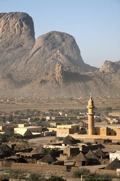 The Taka Mountains and the town of Kassala, Sudan, Africa