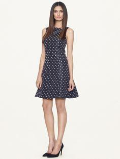 Polka dot silk stamford dress Ralph Lauren Black Label