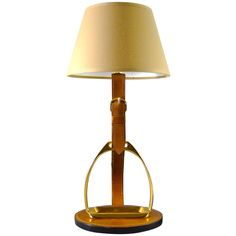 1stdibs - French Brass & Equestrian Stitched Leather Lamp by Longchamps explore items from 1,700  global dealers at 1stdibs.com