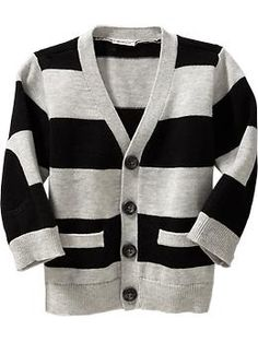 Striped V-Neck Cardigans for Baby