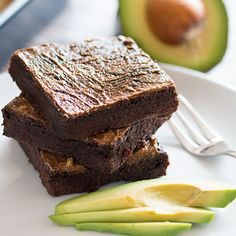 Fudgy Vegan Avocado Brownies